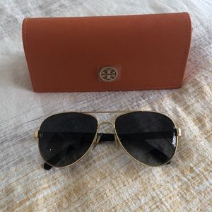 Tory Burch Gold/Brown TY6010 Polarized Sunglasses